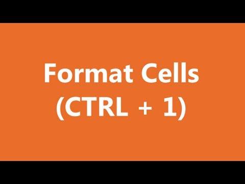 Excel Shortcuts - Format Cells