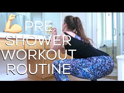💪🏼 Shower Workout Routine! (Everyday #Model #Workout) | Cassandra Bankson