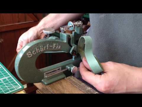 Paring Leather with a Schärf-Fix 2000 Skiving Machine