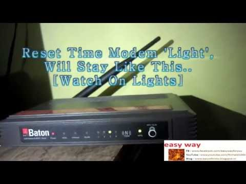 How To Reset Wi-Fi Modem/Router[i ball baton 150M Wireless N ADSL2 + Router Reseting]
