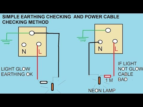 checking grounding or earthing connection in the power outlet   simple power cable tester