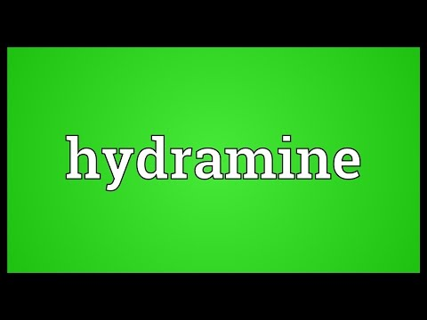 Hydramine Meaning