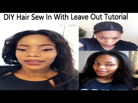 How To: Hair Sew in Weave With Leave Out Tutorial | Beginner Friendly | GoldQueen Queency