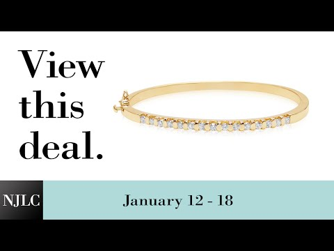 Deal of the Week: Yellow Gold Diamond Bangle Bracelet