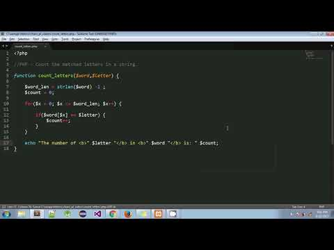 PHP - Count the matched letters in a string