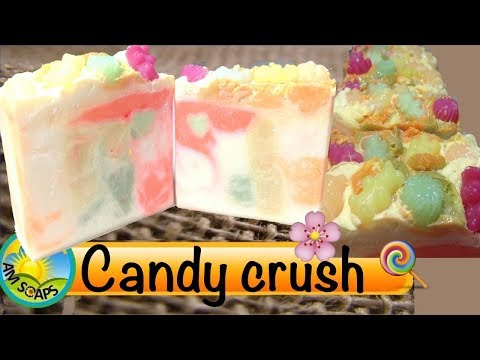 Making and Cutting Candy Crush Cold Process Soap