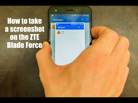 How to Screenshot on the ZTE Blade Force