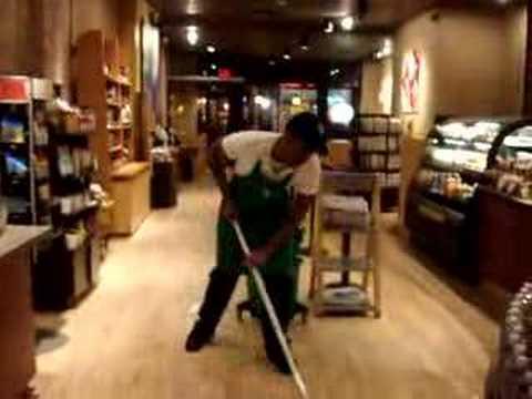 Hard work at Starbucks