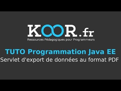 TUTO Java EE : Servlet d'export de données au format PDF