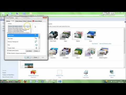 How to change your Mouse pointer on Windows 7 (2012)