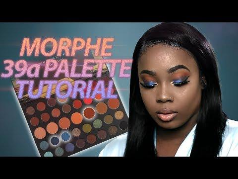 Blue and Orange Eyeshadow Tutorial (Morphe 39a Tutorial)