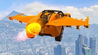 INSANE FLYING ROCKET CAR! (GTA 5 Funny Moments)