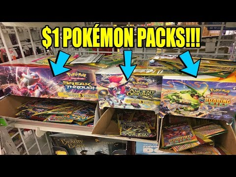 ONLY $1 POKEMON PACKS AT DOLLAR TREE! SUN & MOON POKEMON CARD OPENING!