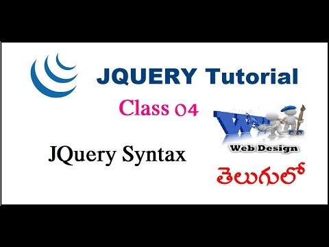 Jquery syntax Telugu-03-vlr training