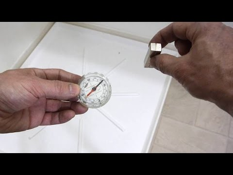 Thru-the-floor (or wall) magnet and compass alignment trick