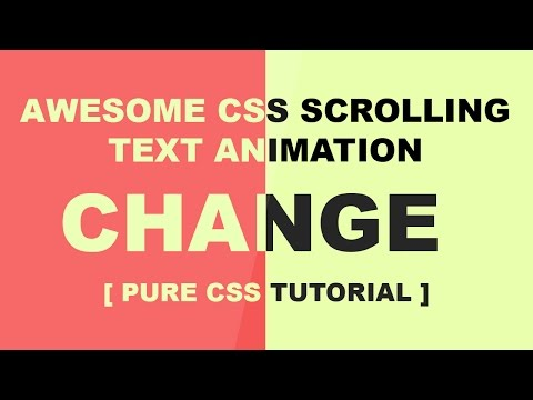 Change Text Color When Enter Another DIV - Pure Css Cool Scrolling Text Animation