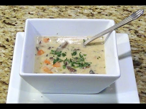 Creamy mushroom soup with tarragon by Magdi my friends favorite