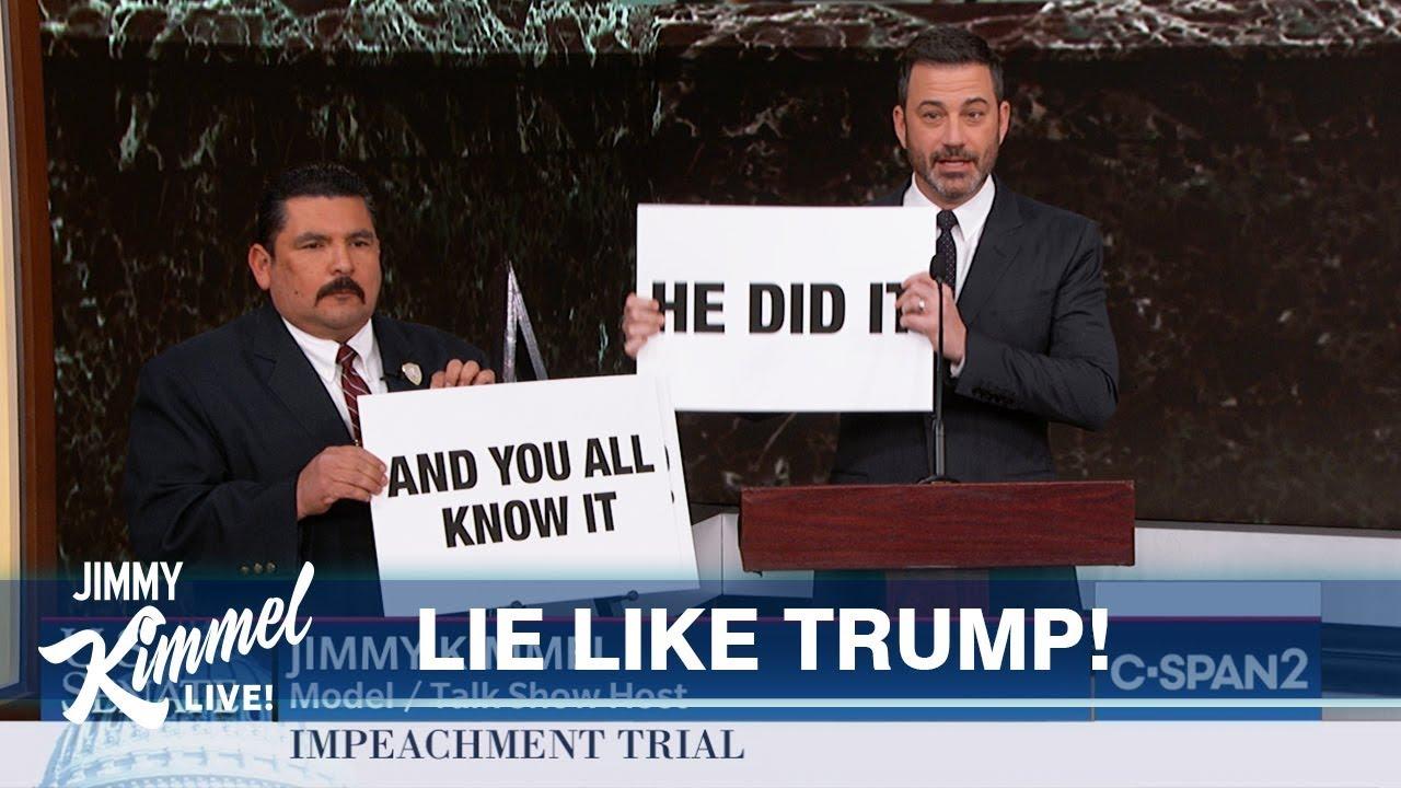 Jimmy Kimmel Cuts Through Impeachment Nonsense