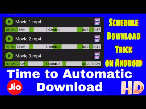 Schedule download Trick for Mobile user || Jio Unlimited Also || Must Watch