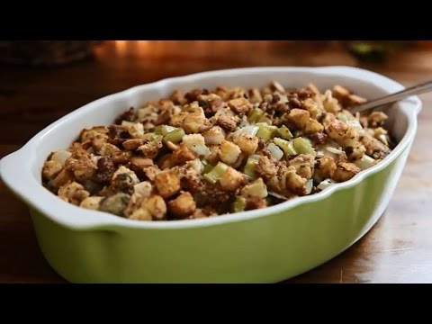 How to Make Sausage Oyster Stuffing   Stuffing Recipes   AllRecipes