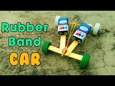 How to Make a Rubber Band Powered Car by Using  Popsicle Stick