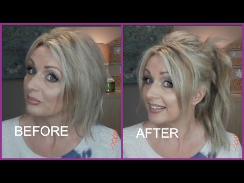 HIGH PONYTAIL WITH EXTENSIONS ON SHORT FINE HAIR | IRRESISTIBLE ME HAIR EXTENSIONS