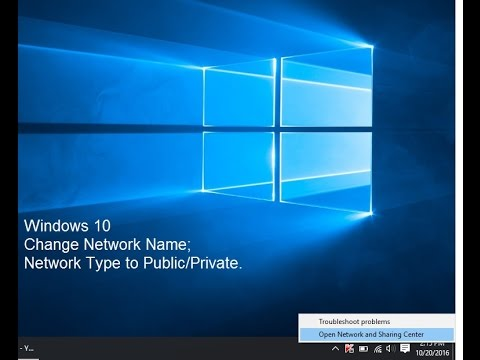 How to change Network Name & Location in Windows 10