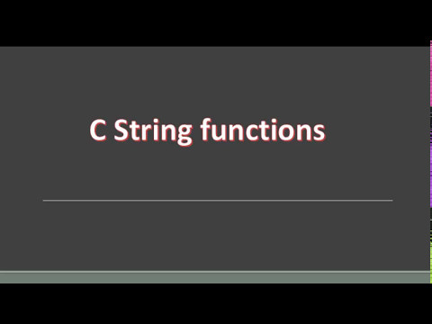 c string function with program