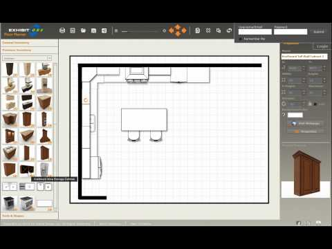 Design a new kitchen with ExhibitCore Floor Planner 2 of 4