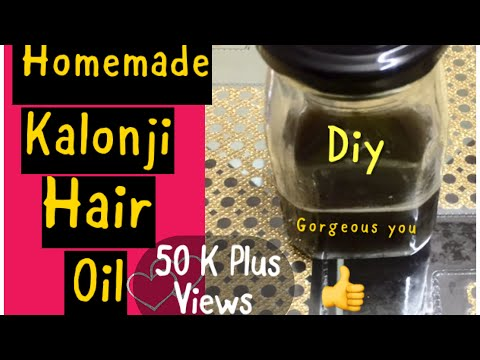 How To Make Kalonji Hair Oil At Home-Cure Baldness,White Hair,Hair Loss|Homemade kalonji hair oil