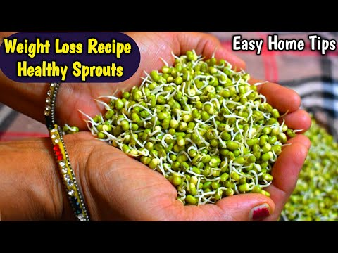 WEIGHT LOSS RECIPE | How to make Moong Dal Sprouts Recipe Mung Beans Sprouts |  Healthy Breakfast
