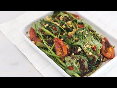 Adobong Kangkong With Chili Garlic Recipe | Yummy Ph