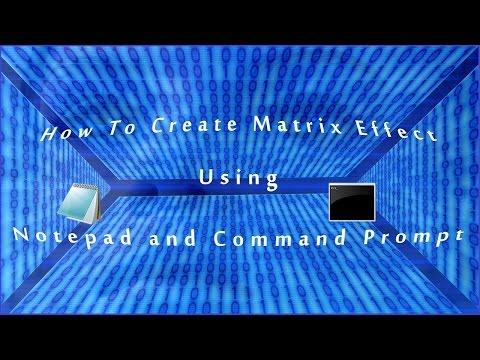 How to create Matrix effect in CMD 2016