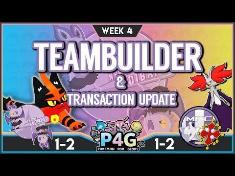 Team Builder + Transaction Update! P4G [S3W4] TeamBuilder: New York Noibats vs Mewtwolouse FC