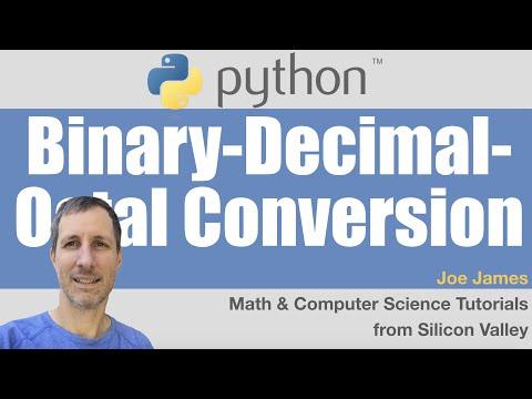 Python: Binary-Decimal-Octal Conversion