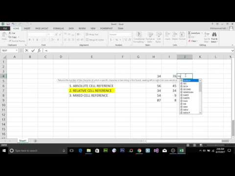MS EXCEL 2013 - ABSOLUTE, RELATIVE AND MIXED CELL REFERENCES IN EXCEL (PART 17) IN URDU / HINDI