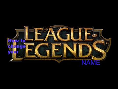 how to change your name on League of Legends (1080p)