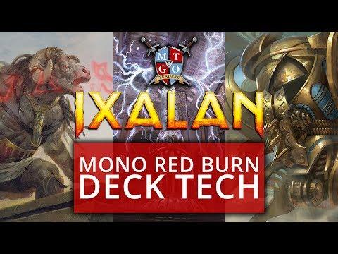 Mono Red Burn Ixalan Standard Deck Tech MTG