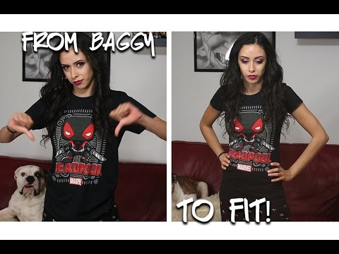 How to Resize a T-Shirt- Altering a Shirt From Baggy to Fitted