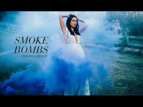 SMOKE BOMBS PHOTOSHOOT