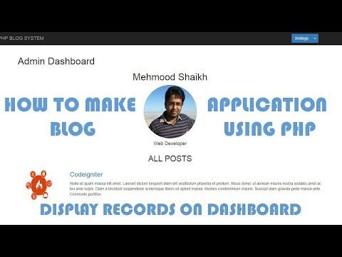 PHP BLOG Application - Displaying all posts on Dashboard Part-8