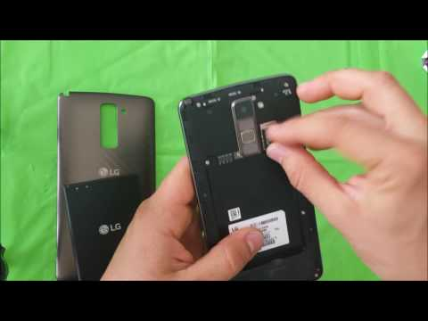 How to install SD and SIM card into LG Stylo 2 Plus