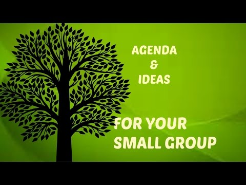 Agenda and ideas, how to lead a small group for women's ministry.