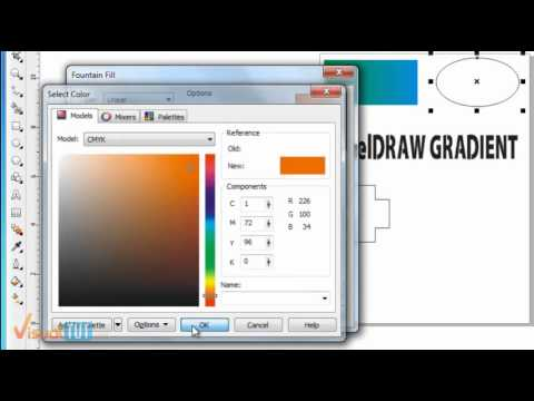 work with Gradient Tool on coreldraw - Sinhala Tutorial