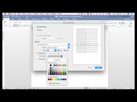 How to add a watermark in Microsoft Word for Mac