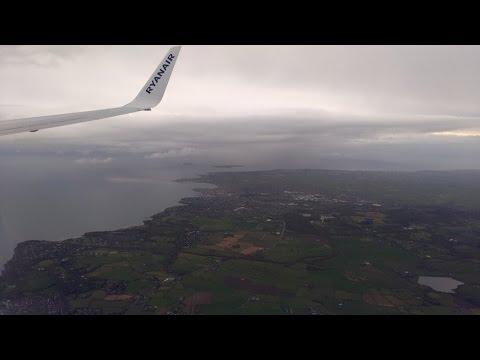 ✈ Northern Ireland Belfast International Airport BFS   Boeing 737-800   Ryanair FR1133   Landing