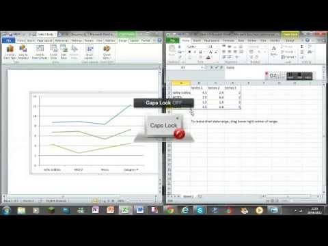 Microsoft office word-how to make a bar line graph