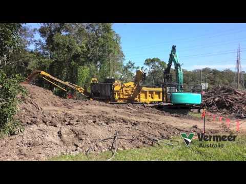 Vermeer HG6000TX horizontal grinder, land clearing Brisbane, Australia