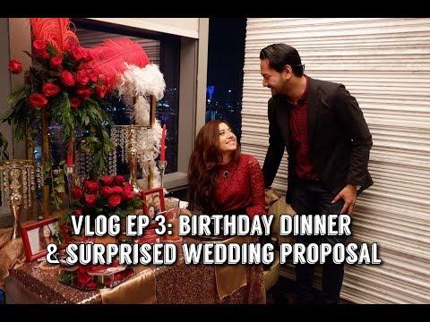 VLOG ep 3: Birthday Dinner & Surprised Wedding Proposal!