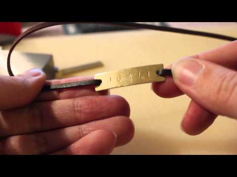 DIY tutorial | Masculine bracelets ! Stamped metal, fake leather and glass beads